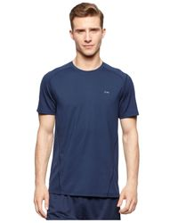Calvin Klein | Blue Performance Mesh T-shirt for Men | Lyst