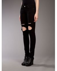 Jet by John Eshaya - Black 'trash' Skinny Fit Jean - Lyst