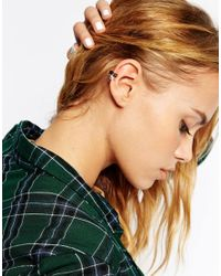 ASOS - Black Singles Pyramid Mix Ear Cuffs - Lyst