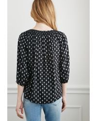 Forever 21 - Black Paisley Print Peasant Top - Lyst