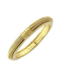 Vince Camuto | Metallic 'belle Of The Bazaar' Hinged Bangle - Worn Gold | Lyst
