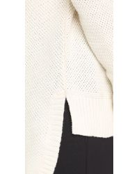 Madewell | Natural Ariel Textured Pullover - Antique Cream | Lyst