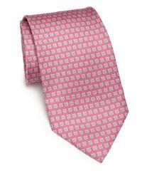 Ferragamo   Pink Gancini Silk Tie for Men   Lyst