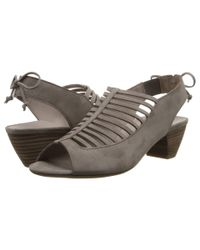 Paul Green | Gray Trisha Suede Cut-Out Sandals | Lyst