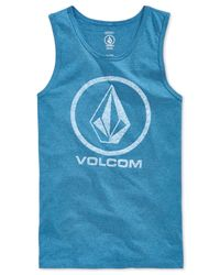 Volcom | Blue Corpo Push Logo Graphic Tank for Men | Lyst