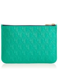 Liberty - Green Medium Mint Iphis Leather Pouch - Lyst