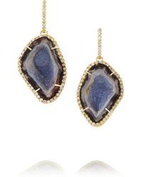 Kimberly Mcdonald - Gray 18-Karat Gold Diamond And Geode Earrings - Lyst