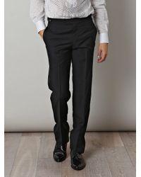 Rake - Black Wool Trousers for Men - Lyst