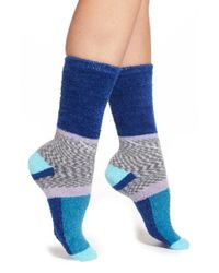 Free People | Blue 'whistler' Colorblock Socks | Lyst
