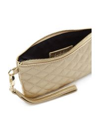 Forever 21 | Quilted Metallic Clutch | Lyst