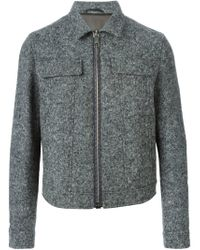 Neil Barrett - Gray Tweed Effect Jacket for Men - Lyst