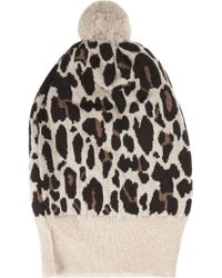 Rosie Sugden | Multicolor Cashmere Leopard-print Beanie | Lyst