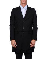 Maison Margiela - Black Double Cloth Coat - Lyst