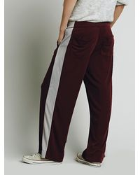 Free People - Purple Womens Sporty Knit Pant - Lyst