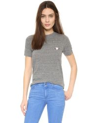 Rodarte - Gray Rohearte Embroidered T-shirt - Lyst
