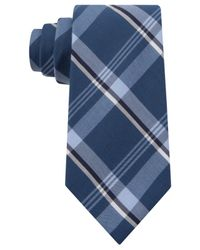Kenneth Cole Reaction - Blue Indigo Plaid Slim Tie for Men - Lyst