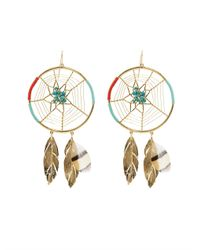 Aurelie Bidermann | Metallic Dreamcatcher Gold-Plated Earrings | Lyst