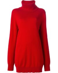 Dolce & Gabbana - Red Oversized Fit Sweater - Lyst