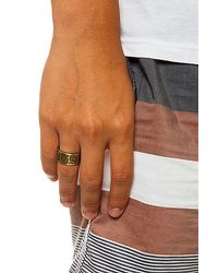 Obey - Metallic The Dynasty Ring for Men - Lyst