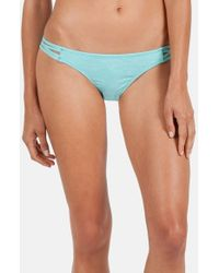 Volcom - Blue 'smoke Signals' Strappy Bikini Bottoms - Lyst