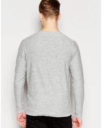 Jack & Jones - Gray Premium Knitted Crew Neck Jumper for Men - Lyst