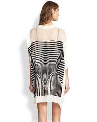 Jean Paul Gaultier - White Optical-Print Silk Robe - Lyst