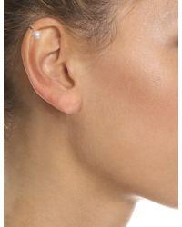Maria Stern | Metallic Silver Single Pearl Ear Cuff | Lyst