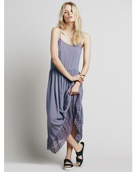 Free People - Blue Intimately Womens Easy Breezy Crochet Slip - Lyst