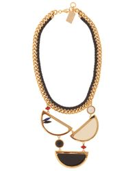Lizzie Fortunato - Multicolor Miro Necklace with Gold Pleated Brass - Lyst