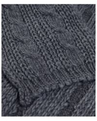 Jules B - Gray Soft Cable Knit Scarf for Men - Lyst