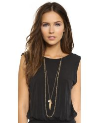 Chan Luu | Metallic Layered Chain & Bead Necklace - Pistachio Mix | Lyst