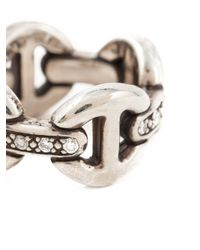 Hoorsenbuhs - Metallic 'quad-link' Ring - Lyst
