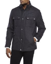Cole Haan | Gray Signature Wool-Blend Jacket for Men | Lyst