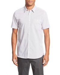 Ted Baker - Purple 'karbiz' Extra Trim Fit Short Sleeve Print Sport Shirt for Men - Lyst