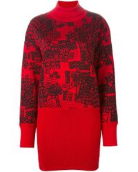 Loewe | Black Jacquard Knit Turtle Neck Sweater | Lyst