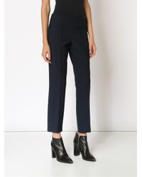 Elizabeth and James - Black Cropped Trousers - Lyst
