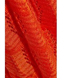 M Missoni - Orange Crochet-Knit Cotton-Blend Maxi Dress - Lyst
