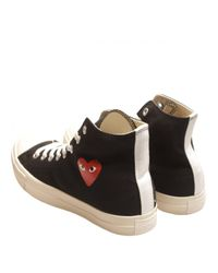 Play Comme des Garçons | Black Chuck Taylor Hi Sneakers for Men | Lyst
