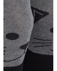 Socksmith - Gray Fur The Win Thigh Highs In Cat - Lyst