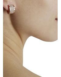Michael Kors - Pink Pavé Crystal Hoop Earrings - Lyst