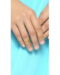 Gorjana - Metallic Lonny Crisscross Ring - Gold - Lyst