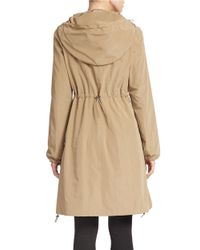 Gallery - Natural Hooded Front-zip Anorak - Lyst