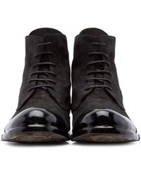 Officine Creative | Black Bubble Dipped Boots for Men | Lyst
