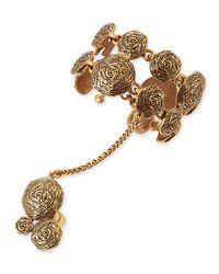 Oscar de la Renta | Metallic Swirl Bracelet Hand Chain | Lyst