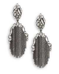 Alexis Bittar | Metallic Miss Havisham Liquid Crystal Chain Fringe Earrings | Lyst