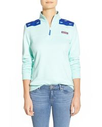 Vineyard Vines | Blue 'shep' Whale Embroidered Pullover | Lyst