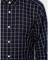 Esprit - Gray Tonal Check Shirt for Men - Lyst