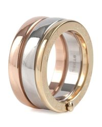DKNY | Multicolor Essentials Tri-tone Rings | Lyst