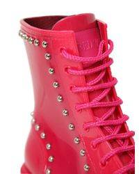 RED Valentino - Pink 30mm Studded Boots - Lyst