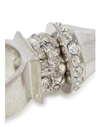 Alexander McQueen - Metallic Crystal Spike Skull Ring - Lyst